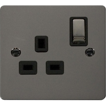 Click FPBN535BK Ingot 1 Gang 13A DP Switched Socket