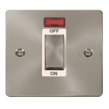 Click FPBS501WH Ingot 1 Gang 45A DP Switch With Neon