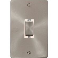 Click FPBS502WH Ingot 2 Gang 45A DP Switch