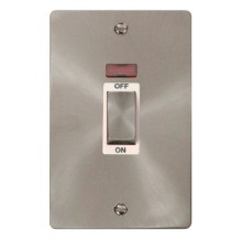 Click FPBS503WH Ingot 2 Gang 45A DP Switch With Neon
