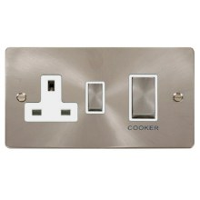 Click FPBS504WH Ingot 45A DP Switch + 13A Switched Socket