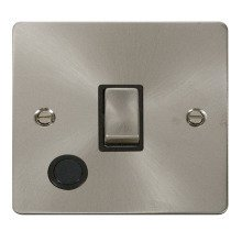 Click FPBS522BK Ingot 20A 1 Gang DP Switch + Flex Outlet