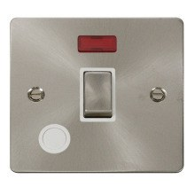 Click FPBS523WH Ingot 20A 1 Gang DP Switch + Flex Outlet & Neon