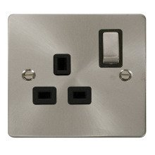 Click FPBS535BK Ingot 1 Gang 13A DP Switched Socket