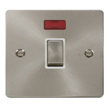 Click FPBS723WH Ingot 20A 1 Gang DP Switch & Neon