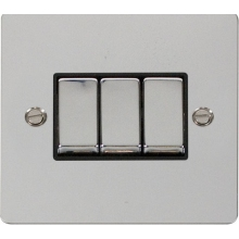 Click FPCH413BK Ingot 10AX 3 Gang 2 Way Switch