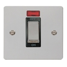 Click FPCH501BK Ingot 1 Gang 45A DP Switch With Neon
