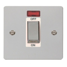 Click FPCH501WH Ingot 1 Gang 45A DP Switch With Neon