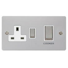 Click FPCH504WH Ingot 45A DP Switch + 13A Switched Socket