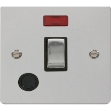 Click FPCH523BK Ingot 20A 1 Gang DP Switch + Flex Outlet & Neon