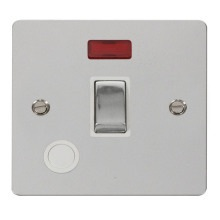 Click FPCH523WH Ingot 20A 1 Gang DP Switch + Flex Outlet & Neon