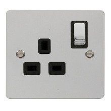 Click FPCH535BK Ingot 1 Gang 13A DP Switched Socket