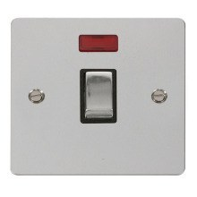 Click FPCH723BK Ingot 20A 1 Gang DP Switch & Neon