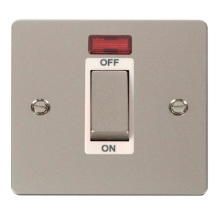 Click FPPN501WH Ingot 1 Gang 45A DP Switch With Neon