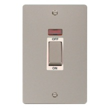 Click FPPN503WH Ingot 2 Gang 45A DP Switch With Neon