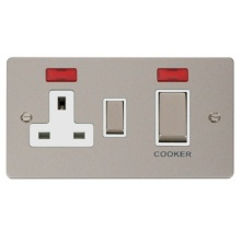 Click FPPN505WH Ingot 45A DP Switch + 13A Switched Socket & Neons (2)