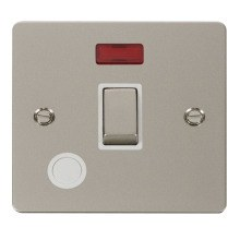 Click FPPN523WH Ingot 20A 1 Gang DP Switch + Flex Outlet & Neon