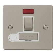 Click FPPN552WH Ingot 13A Switched Connection Unit + Flex Outlet & Neon