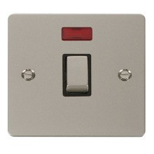 Click FPPN723BK Ingot 20A 1 Gang DP Switch & Neon