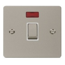 Click FPPN723WH Ingot 20A 1 Gang DP Switch & Neon