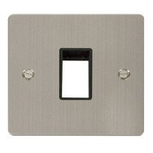 Click FPSS401BK 1 Gang Plate Single Switch Aperture