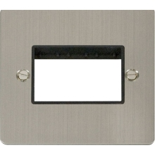 Click FPSS403BK 1 Gang Plate Triple Switch Aperture