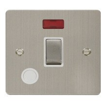 Click FPSS523WH Ingot 20A 1 Gang DP Switch + Flex Outlet & Neon