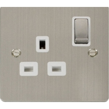 Click FPSS535WH Ingot 1 Gang 13A DP Switched Socket