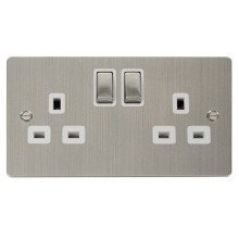 Click FPSS536WH Ingot 2-Gang 13A DP Switched Socket