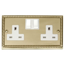 Click GCBR036WH 2 Gang 13A DP Switched Socket Outlet