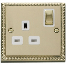 Click GCBR535WH 1 Gang 13A DP 'Ingot' Switched Socket Outlet