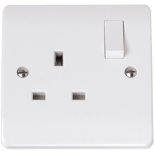 Click CMA635 13A 1 Gang Socket Outlet Dp Switched (Twin Earth Terminals)