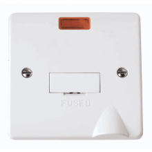 Click CMA053 13A Fused Connection Unit with Flex Outlet & Neon
