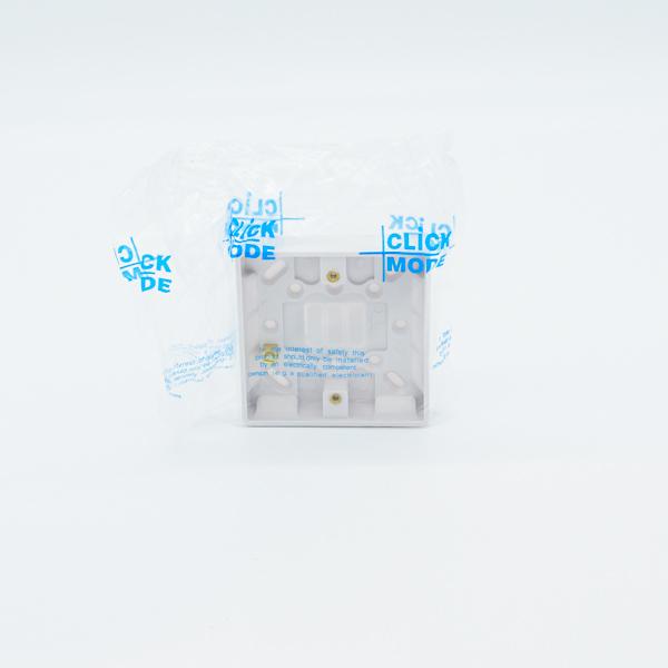 Click Cma080 1 Gang 16mm Deep Pattress Box Electricbase