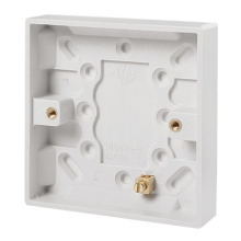 Click PRW080 1 Gang 16mm Deep Pattress Box With Brass Earth Terminal Fitted