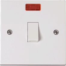Click PRW023 1 Gang 20A DP Switch With Neon