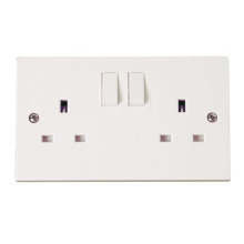 Click PRW036 2 Gang 13A DP Switched Socket Outlet