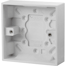 Click PRW081 1 Gang 25mm Deep Pattress Box