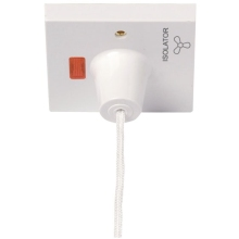 Click PRW208 10A 3 Pole Pullcord Fan Isolation Switch