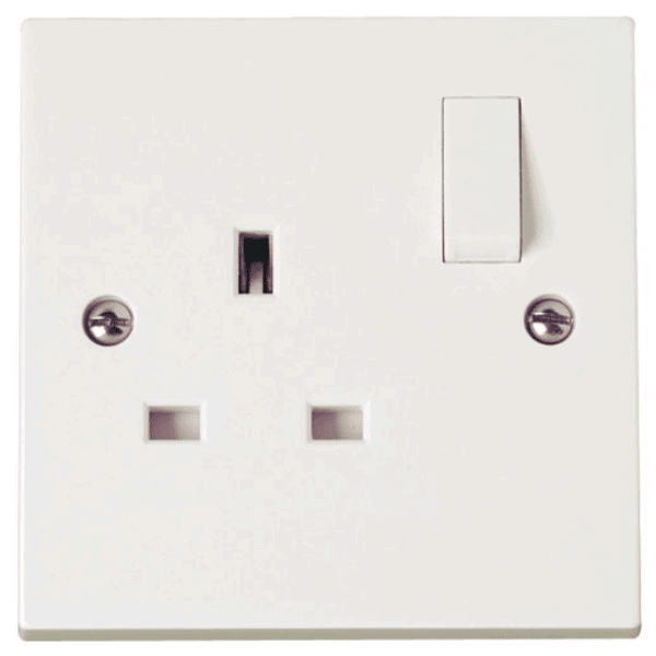 Click PRW605 1 Gang 13A Switched Socket Outlet