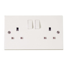 Click PRW606 2 Gang 13A Switched Socket Outlet