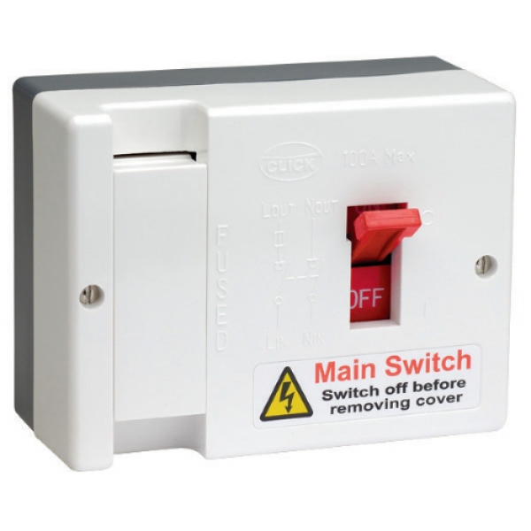 Click Scolmore Db750 100a Fused Mains Switch   100a Hrc
