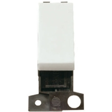 Click Scolmore MD004WH 2 Way 10A Retractive Switch Module- White