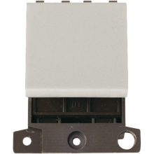 Click Scolmore MD022WH 20A DP Switch Module ( Double  Width ) White