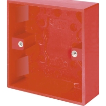 Click Scolmore WA081RD 1 Gang 25mm Deep Surface Pattress Box - Red