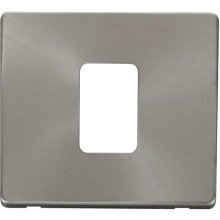Click SCP200BS 45A 1 Gang Plate Switch Cover Plate - Brushed Stainless
