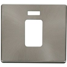 Click SCP201BS 45A 1 Gang Plate Switch With Neon Cover Plate - Brushed Stainless