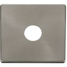 Click SCP221BS 1 Gang Toggle Switch Cover Plate - Brushed Stainless