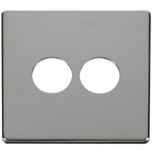 Click SCP222CH 2 Gang Toggle Switch Cover Plate - Chrome