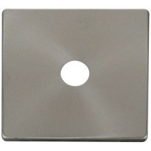 Click SCP231BS Single Coaxial Socket Cover Plate - Brushed Stainless
